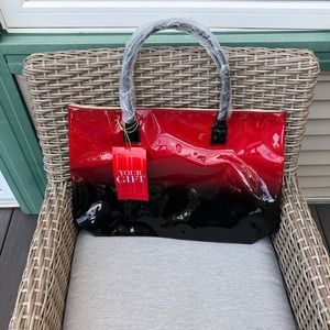 Elizabeth Arden Red/Black Hombre Large Tote Bag